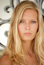 Beautiful young blond woman portrait. Royalty Free Stock Photography