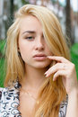 Beautiful young blonde girl Royalty Free Stock Photography