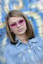 Beautiful young blonde teenager Stock Photos