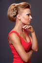 Beautiful young blonde woman Stock Image