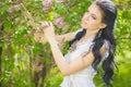Beautiful Young Brunette Posin...