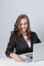 Beautiful young business woman working Royalty Free Stock Image