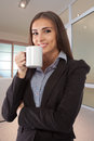 Beautiful young businesswoman portrait in office Stock Photography