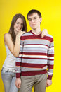 Beautiful young couple in casual clothing Stock Image