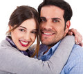Beautiful young couple closeup shot Stock Photography
