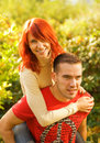 Beautiful young couple in love Stock Image