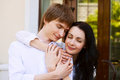 Beautiful young couple in love portrait of Stock Photography