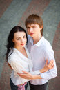 Beautiful young couple in love portrait of Royalty Free Stock Images