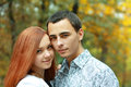 Beautiful young  couple outdoors Royalty Free Stock Photos