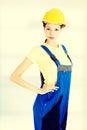 Beautiful young craftswoman. Royalty Free Stock Photo