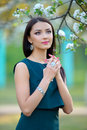 Beautiful young fashion girl with with long hair wearing jewelry Royalty Free Stock Photo