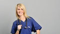 Beautiful young female healthcare worker Royalty Free Stock Image