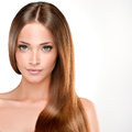 Beautiful young and fresh girl Royalty Free Stock Photo
