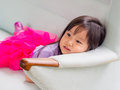 Beautiful young girl child laying down Royalty Free Stock Photo