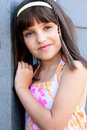 Beautiful young girl with dark hair Royalty Free Stock Photos