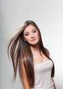 Beautiful young girl with long hair Royalty Free Stock Photo