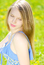 Beautiful young girl outdoor Royalty Free Stock Photo