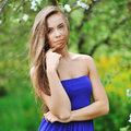 Beautiful young girl outdoor portrait Royalty Free Stock Photo