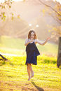 A beautiful young girl outdoors Royalty Free Stock Image