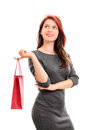 Beautiful young girl with a shopping bag Royalty Free Stock Photo
