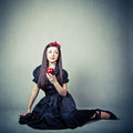 beautiful young girl, in snow white costume Royalty Free Stock Photo