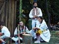 Beautiful young peoples in romanian rustic clothes