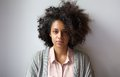 Beautiful young woman with afro hairstyle Royalty Free Stock Photo