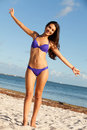 Beautiful Young Woman at the Beach Stock Photography