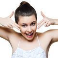 Beautiful young woman with clean skin Stock Photos