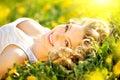 Beautiful Young Woman Enjoying...