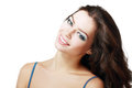 Beautiful young woman face of a with brightl perfect make up eyes closed Royalty Free Stock Photo