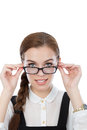 Beautiful young woman with glasses Royalty Free Stock Photography