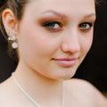 Beautiful young woman head shot closeup Royalty Free Stock Image