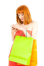 Beautiful young woman with her shopping bags Royalty Free Stock Photos
