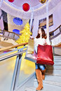 Beautiful young woman holding shopping bags Stock Image