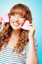 Beautiful Young Woman In A Love Heart Romance Royalty Free Stock Images