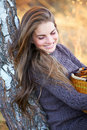 Beautiful young woman outdoor Royalty Free Stock Image