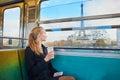 Beautiful young woman in Parisian subway Royalty Free Stock Photo