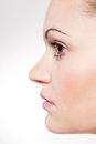 Beautiful young woman portrait profile Royalty Free Stock Images