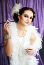 Retro flapper style woman Royalty Free Stock Photo