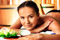 Beautiful young woman taking spa treatments at the salon Stock Photography