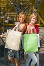 Beautiful young women shopping. Stock Photography
