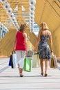 Beautiful young women shopping. Royalty Free Stock Photo