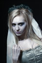 Beautiful zombie corpse bride Royalty Free Stock Photo