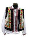 Beautifull balkanic national costume clothes isolated over white background Stock Image
