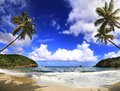 Beautifull beach in dominica island Royalty Free Stock Photo