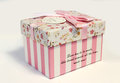 Beautifull gift box for beloved nice with the inscription man or woman on valentine s day Stock Images