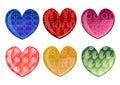 Beautifull hearts icon set Stock Photos