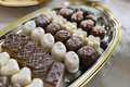 Beautifull homemade yummi truffles Royalty Free Stock Photo