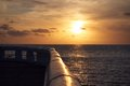 Beautifull sundown a from a pier Stock Image